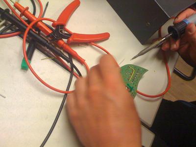 soldering a bridge