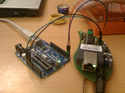connected arduino and botanifon