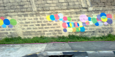 graffiti dots