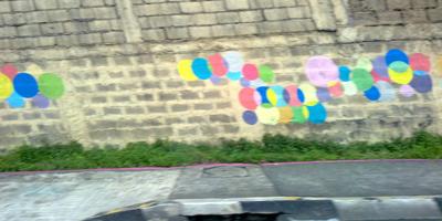 graffiti dots